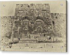Outside The Eastern Gate Old City Jerusalem Acrylic Print by Mark Fuller