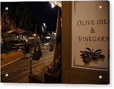 Acrylic Print featuring the photograph Outside The Oil And Vinegar Shop by Jeremy Farnsworth