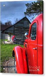 Outside The Old Log Cabin Acrylic Print by Jimmy Ostgard