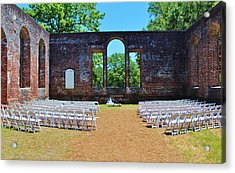 Outside Wedding Acrylic Print