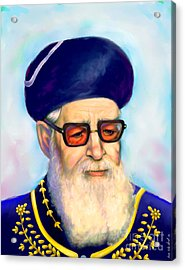 Acrylic Print featuring the painting Ovadiah Yosef by Sam Shacked