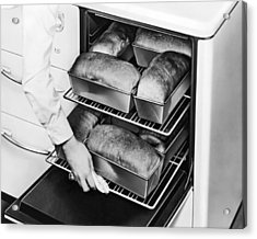 Oven Fresh Warm Bread Acrylic Print by Underwood Archives