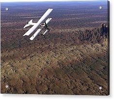 Acrylic Print featuring the digital art Over Arizona by John Pangia