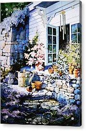 Over Sleepy Garden Walls Acrylic Print by Hanne Lore Koehler