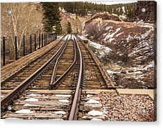Over The Bridge Around The Bend Acrylic Print