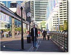 Over The Bridge Coming House Acrylic Print