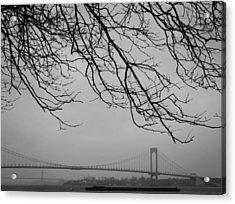 Over The Bridge Acrylic Print by Richie Stewart