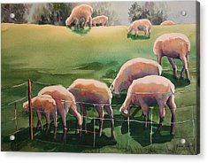 Acrylic Print featuring the painting Over The Hill by Roxanne Tobaison
