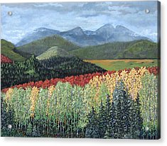 Acrylic Print featuring the painting Over The Hills And Through The Woods by Suzanne Theis