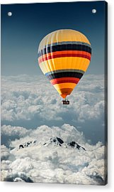 Over The Mountain Acrylic Print by Okan YILMAZ