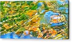Over The Rocks Acrylic Print by Terril Heilman