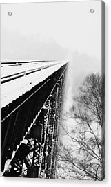 Over The Side Acrylic Print by Cheryl Helms