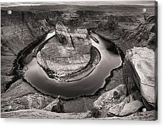 Acrylic Print featuring the photograph Overcast At Horseshoe Bend by Brad Brizek