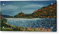 Overcast At Lake Winona Acrylic Print by Monica Veraguth