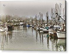 Overcast Harbour Acrylic Print