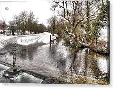 Overflowing River In Winter Acrylic Print