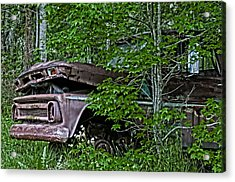 Overgrown Chevy Acrylic Print by Andy Crawford