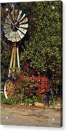 Acrylic Print featuring the photograph Overgrown Tractor by Richard Stephen