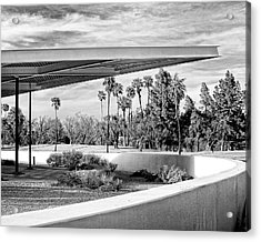 Overhang Bw Palm Springs Acrylic Print by William Dey