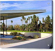 Overhang Palm Springs Tram Station Acrylic Print by William Dey