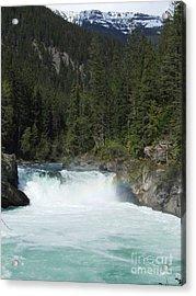 Overlander Falls - Fraser River Acrylic Print by Phil Banks
