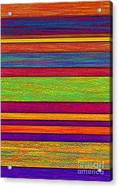 Overlay Stripes Acrylic Print by David K Small