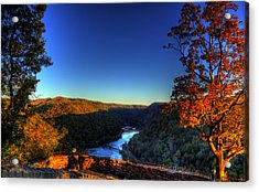 Acrylic Print featuring the photograph Overlook In The Fall by Jonny D