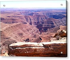 Overlook Into The Layers Of Time Acrylic Print