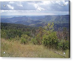 Acrylic Print featuring the photograph Overlook Into The Mist by Fortunate Findings Shirley Dickerson