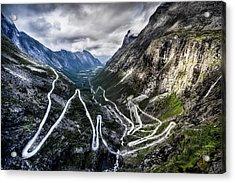 Overlook Of Trollstigen, Norway Acrylic Print by Photo By Tse Hon Ning