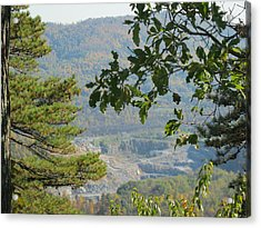 Overlooking An Old Quarry Acrylic Print by Sarah Manspile