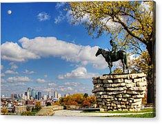 Overlooking Kansas City Acrylic Print