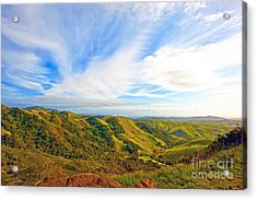 Overlooking Morro Bay Ca Acrylic Print by Artist and Photographer Laura Wrede