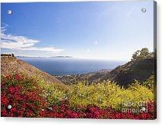 Overlooking Palos Verdes Estates Acrylic Print