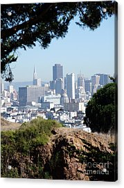 Overlooking The City By The Bay San Francisco  Acrylic Print by Jim Fitzpatrick