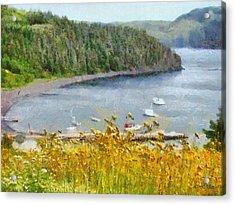 Overlooking The Harbor Acrylic Print by Jeff Kolker
