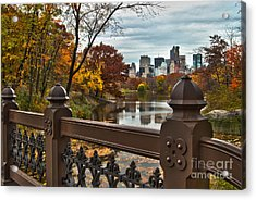 Overlooking The Lake Central Park New York City Acrylic Print