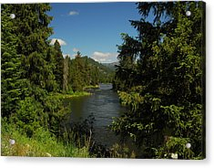Overlooking The Lochsa River In Idaho Acrylic Print by Larry Moloney