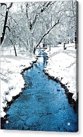 Overnight Snow In Edgemont Park Acrylic Print by Kellice Swaggerty