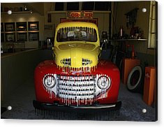 Overpainted 1950 Ford Pickup Acrylic Print