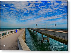 Overseas Highway Florida Keys Acrylic Print by Chris Thaxter