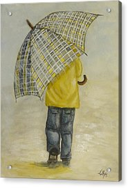 Oversized Umbrella Acrylic Print by Kelly Mills