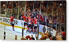 Overtime Game Winner Acrylic Print by Melissa Goodrich