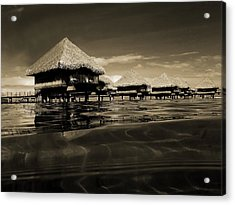 Overwater Bungalows  Acrylic Print by Zinvolle Art