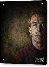 Overwhelmed... Acrylic Print by Sandra Cunningham