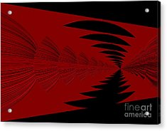 Red And Black Design Acrylic Print
