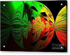 Art. Unigue Design.  Abstract Green Red And Black Acrylic Print