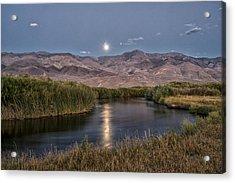 Owens River Moonrise Acrylic Print