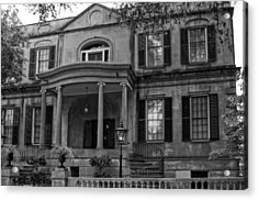 Owens - Thomas House In Black And White Acrylic Print