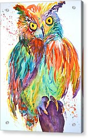 Owl Be Seeing You Acrylic Print by Beverley Harper Tinsley